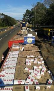 El cargamento estaba conformado por unas 450.000 cajetillas de la marca Eight