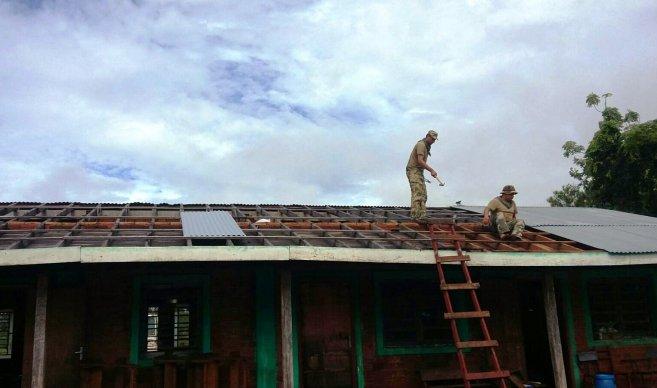 Militares remodelaron escuela Indígena en Canindeyú